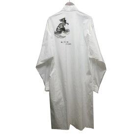 【中古】Yohji Yamamoto pour homme 19SS バックプリントロングシャツ 【000179】中目黒店OPEN記念セール 【JY1798】