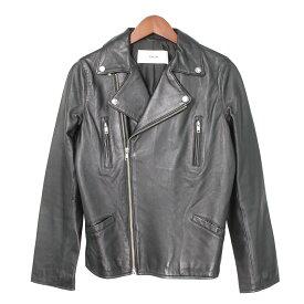 【中古】RIM.ARKレザーダブルライダースジャケット ブラック サイズ:36 【3月30日見直し】