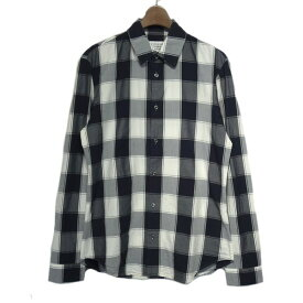 【中古】Martin Margiela14 2017SS コットンチェックシャツ ネイビー×ホワイト サイズ:39 【100919】(マルタン・マルジェラ14)