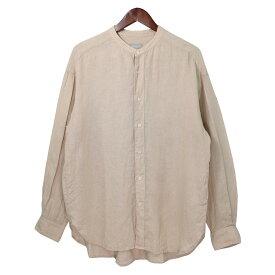 【中古】MACKINTOSH PHILOSOPHY 19SS フレンチリネンバンドカラーシャツ ベージュ サイズ:5(M) 【150919】(マッキントッシュフィロソフィー)