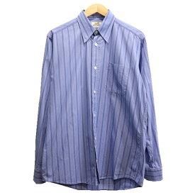 【中古】HERMES ストライプシャツ スカイブルー サイズ:39 【150919】(エルメス)