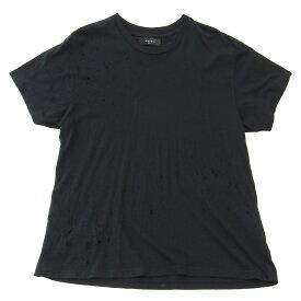 【中古】AMIRI SHOTGUN TEE ダメージ加工半袖Tシャツ ショットガン加工 ブラック サイズ:46 【160919】(アミリ)