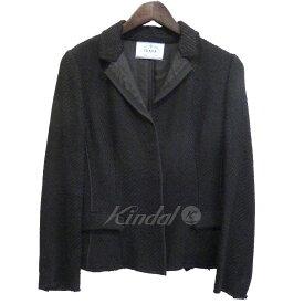 【中古】PRADA ツイードジャケット ブラック サイズ:38 【160919】(プラダ)