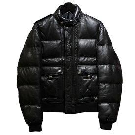 【中古】Dior Homme 2008AW レザーダウンジャケット 【017452】 【KIND1828】