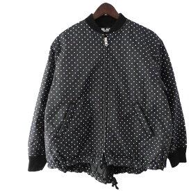 【中古】BLACK COMME des GARCONS 13AWドットボンバージャケット ブラック サイズ:XS 【220919】(ブラック コムデギャルソン)