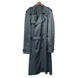 【中古】Dior Homme 2019SS サテントレンチコート グレー サイズ:44 【230919】(ディオールオム)