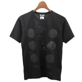【中古】BLACK COMME des GARCONS × NIKE 2017AW ドットプリントTシャツ ブラック サイズ:XS 【260919】(ブラックコムデギャルソン ナイキ)