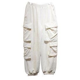 【中古】LOUIS VUITTON 19SS ベロアマルチポケットカーゴパンツ 1A530X 起毛パンツ ホワイト サイズ:S 【071019】(ルイヴィトン)