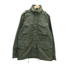 【2月20日 お値段見直しました】【中古】FULL COUNTミリタリージャケット オリーブ サイズ:40