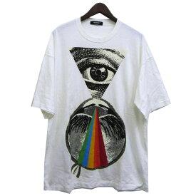 【中古】UNDER COVER 18SS「SPECTRUM」プロビデンズの目ビッグTシャツ ホワイト サイズ:2 【111019】(アンダーカバー)