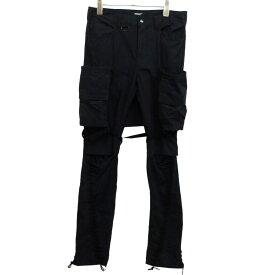 【中古】UNDER COVER 19SS変形スカート付カスタムアーミーパンツ ブラック サイズ:2 【131019】(アンダーカバー)