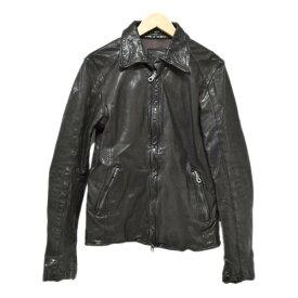 【中古】ISAMU KATAYAMA BACKLASH イタリアンダブルショルダー製品染め シングルライダースジャケット 1254-06 ブラック サイズ:2/M 【141019】(イサムカタヤマバックラッシュ)