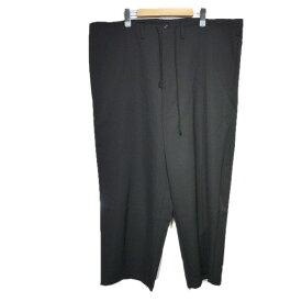 【中古】YohjiYamamoto pour homme ウールイージーワイドパンツ ブラック サイズ:M 【151019】(ヨウジヤマモト プール オム)