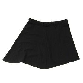 【中古】LAD MUSICIAN GABARDINE SKIRT ウールラップスカート 巻きスカート ブラック サイズ:44 【171019】(ラッドミュージシャン)