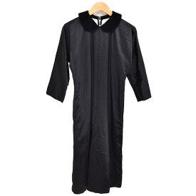 【中古】COMME des GARCONS ウールシルクサテンワンピース 2010AW ブラック サイズ:S 【171019】(コムデギャルソン)