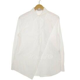 【中古】BALENCIAGA フロントデザインシャツ ホワイト サイズ:36 【181019】(バレンシアガ)