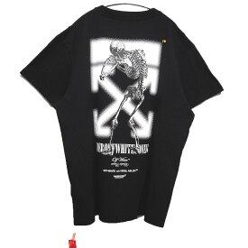 【中古】UNDERCOVER×OFF-WHITE 2019AW SKELTON DART S/S T-SHIRT スカルプリントTシャツ ブラック サイズ:M 【181019】(アンダーカバー オフホワイト)