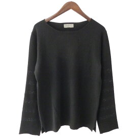 【中古】YOHJI YAMAMOTO pour homme 17AW カシミヤ袖ボーダーニットセーター ブラック サイズ:3 【191019】(ヨウジヤマモトプールオム)