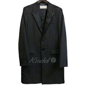 【中古】SAINT LAURENT PARIS 14SS スモーキングチェスターコート ブラック サイズ:48 【201019】(サンローランパリ)