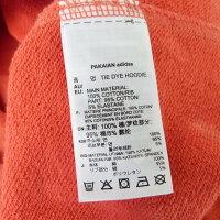 【中古】adidasoriginals「TIEDYEHOODIE」タイダイ染めロゴプリントプルオーバーパーカーレッドサイズ:XO【201019】(アディダスオリジナルス)