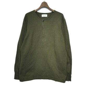 LEMAIRE back raising crew neck cut-and-sew khaki size: XL (Lemerre)