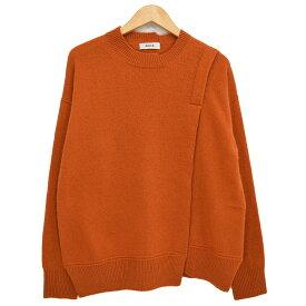 【中古】zucca ラムウールセーター デザインニット 2018AW オレンジ サイズ:M 【211019】(ズッカ)