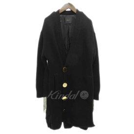 【中古】UNDER COVER Wool cardigan デザインウールロングカーディガン ブラック サイズ:2 【261019】(アンダーカバー)