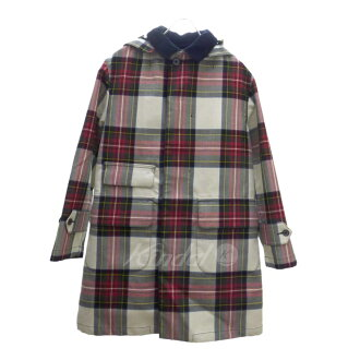 BEAUTY & YOUTH UNITED ARROWS 2WAY convertible collar coat red X beige X green size: S (beauty and use UNITED ARROWS)