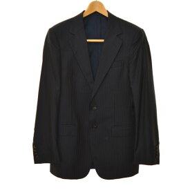 【中古】GUCCI サイドベンツストライプ2Bスーツ ダークネイビー サイズ:46R 【041119】(グッチ)