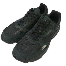 【12月2日 お値段見直しました】【中古】adidas「FALCON W」スニーカー ブラック サイズ:28cm
