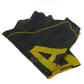 【中古】BALENCIAGA 2018 モノグラムスカーフ ブラック×イエロー サイズ:70×200cm 【081119】(バレンシアガ)
