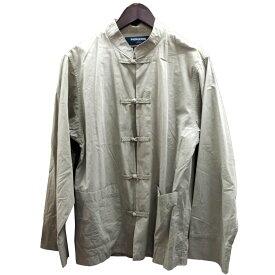 【中古】UNDER COVER×PHINGERIN 15AWチャイナシャツ グレー サイズ:M 【121119】(アンダーカバー×フィンガリン)