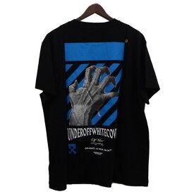 【中古】OFFWHITE×UNDER COVER 19AW「HAND DART S/S T-SHIRT」プリントTシャツ ブラック サイズ:M 【121119】(オフホワイト×アンダーカバー)