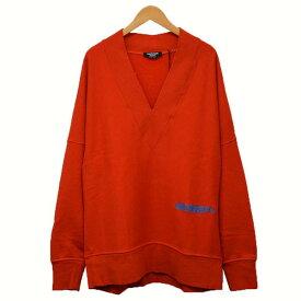【中古】Calvin Klein 205W39NYC オーバーサイズ Vネック スウェット レッド サイズ:XS 【131119】(カルバンクライン)