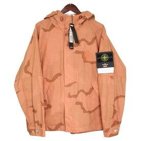 【中古】Supreme x STONE ISLAND 19SS Riot Mask Camo Jacket バックロゴカモフラフーデッドジャケット サーモンピンク サイズ:S 【131119】(シュプリーム ストーンアイランド)