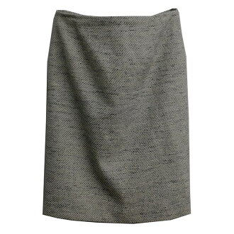 BEAUTY & YOUTH UNITED ARROWS mixture tweed twill middle skirt beige size: L (beauty and use UNITED ARROWS)