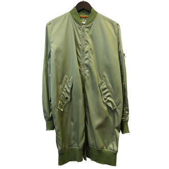MM6 16SS long MA-1 jacket olive size: 36