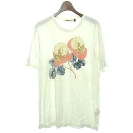 【中古】UNDER COVER スカル・フラワーTシャツ ホワイト サイズ:2 【051219】(アンダーカバー)