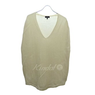 Theory Cashmere Vneck Cape knit off-white size: S