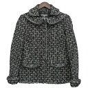 【中古】CHANEL ツイードジャケット ブラック サイズ:38 【271219】(シャネル)