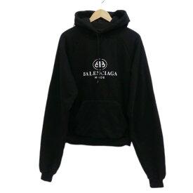 【中古】BALENCIAGA 2019SS BB MODE HODIE プルオーバーパーカー ブラック サイズ:XS 【040120】(バレンシアガ)