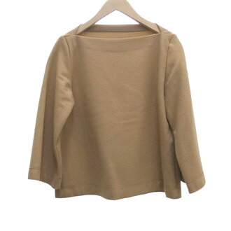 TOMORROW LAND woolen jersey boat neck pullover beige size: 36 (tomorrow rand)