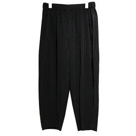 【中古】HOMME PLISSE ISSEY MIYAKE 20SS プリーツパンツ ブラック サイズ:1 【130120】(オム プリッセ イッセイ ミヤケ)