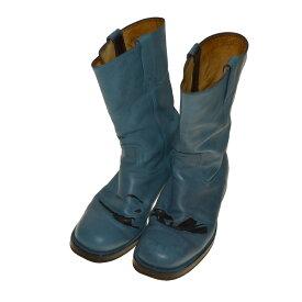 【中古】Martin Margiela 10 ペンキ加工 ペコスブーツ ブルー サイズ:41 【180120】(マルタンマルジェラ 10)