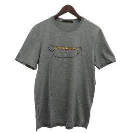 【中古】LOUIS VUITTON ホットドッグプリントTシャツ グレー サイズ:M 【190120】(ルイヴィトン)