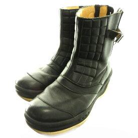 【中古】UNDER COVERWE MAKE NOISE NOT CLOTHES「Riders Boots」ライダースブーツ ブラック サイズ:M 【6月1日見直し】