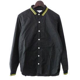 【中古】nanamicaラインシャツ ブラック サイズ:S 【6月1日見直し】