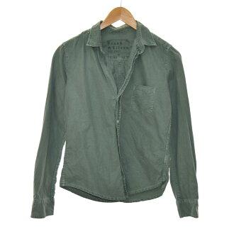 Frank & Eileen cotton shirt khaki size: XS (frank and Irene)