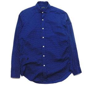 【中古】POLO RALPH LAUREN ドットシャツ ネイビー サイズ:S 【170220】(ポロラルフローレン)