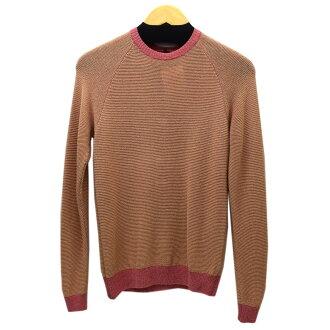G. V. G. V.  Hemp blend knit pink x orange size: O/S (ジーブイジーブイ)